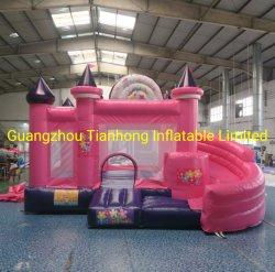 4.5X4m Pink Princess Bouncy Castle Rubberboten Bounce House met glijbaan Combo voor verhuur