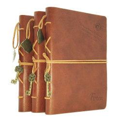 Cuir synthétique Journal gaufré Ordinateur portable avec reliure de couture
