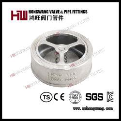 ステンレス鋼の水処理(HW-CV 1002年)のための産業ウエファーのばねか振動タイプ小切手弁