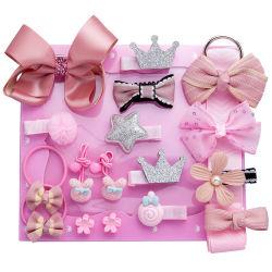 Baby Accessoires Süße 18PCS/Set Kinder Prinzessin Haarnadel Baby Girls Bowknot Blume Motive Haarclip Set Geschenkbox Requisiten