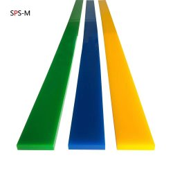 Todas as cores de forma plana Serigrafia PU borracha rodo