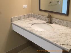 يصقل بيضاء/رماديّة/أسود/[بروون] نهر بيضاء صوان حجارة لأنّ مطبخ [كونترتوب]/غرفة حمّام تفاهة مصنع