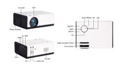Проектор 3D Blu-ray проектор домашнего кинотеатра кино