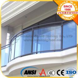 Une balustrade en verre/Balustrade en acier inoxydable de verre avec le verre trempé