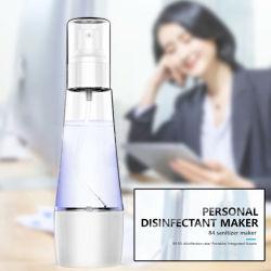 Mini portátil recargable 80 ml de agua desinfección 84 Maker Generador de bricolaje para el cuidado personal
