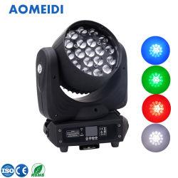 LEDのビーム染料のズームレンズの移動ヘッド段階は19X10W 4in1をつける