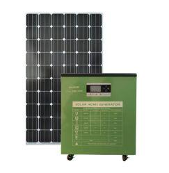 2021 fábrica Kits Gerador doméstica OEM Produtos Solar Portátil do Sistema de Alimentação de Energia do Painel PV com todos em uma bateria da controladora do inversor para iluminação Camping