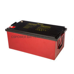 12V 260Ah batería UPS VRLA, fuente de alimentación del sistema solar de batería