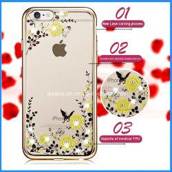 Cassa del telefono mobile della cassa della flora di Bling del fiore del giardino segreto per il iPhone