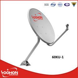 60cm bande Ku Antenne parabole satellite galvanisé Offset avec la certification CE