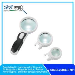交換可能な3X65mm/10X50mm/16X37mmの拡大鏡の主要なレンズ