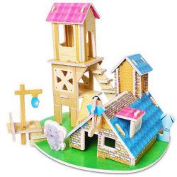 [3د] مجساميّة لغز أطفال لغز لعب [ديي] [هندمد ببر] منزل نموذج لأنّ فتى وبنات يعتّق 3-6-8 في روضة أطفال 003