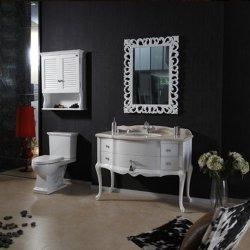 116 см старинной цельной древесины дуба туалетный столик в ванной комнате (MJ-418)