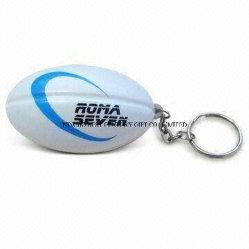 Estresse de PU Chaveiro Bola de Rugby Simples