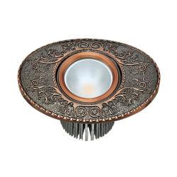 황동 LED 빌라 램프와 골동품 BCU 마감