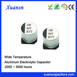 100UF 50V SMD 알루미늄 전해질 축전기 칩