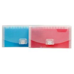Bolsillos de extensión transparentes coloridos del fichero 13 (E-A017)