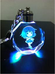 LED Light (YSK107)를 가진 선전용 Crystal Keychain