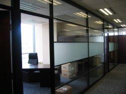 オフィスのための取りはずし可能なガラス隔壁