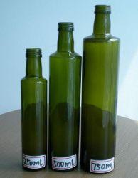 250 мл/500мл/750мл темно зеленый круглый оливкового масла в стеклянные бутылки