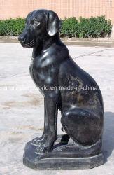 Marble nero Animal Dog per Decoration