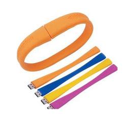 À la mode en caoutchouc de silicone personnalisé Bracelet USB