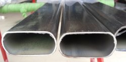 China 202 303 Oro fabricante de tubo de acero inoxidable 201 304 316 321Tubo de acero inoxidable ovalado de acero inoxidable de sección elíptica de hueco de la ranura para tubo pasamanos