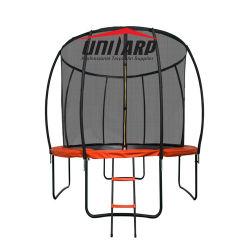 안전 네트워크 내부의 고무적인 점프 바운스 침대 펌킨 트람폴린 판매