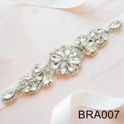 Bedazzled ornements brillants de cristaux de forme de fleur Rhinestone Habillage de robe de soirée décoration
