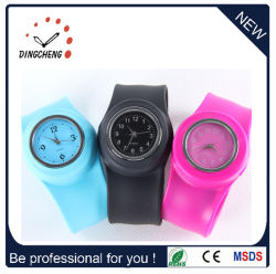 Moda caliente de cuarzo/Digital de pulsera de silicona Slap Watch (DC-096)