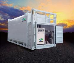 Depósito de contenedores de combustible statoin (móvil) con bomba de descarga