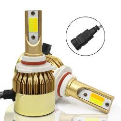 노랬던 C6 이중 색깔 자동차와 백색 이중 빛 자동차를 위한 월경 LED는 대머리 헤드라이트 H8 H4 자동차 빛의 가까이에 멀리 재장비했다