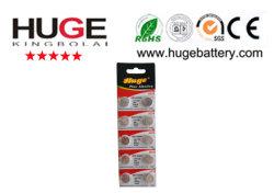 Livre de mercúrio 1,5V Blister Pilha de botão alcalina (AG10)