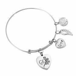De Armband van de Armband van de Charme van de Crematie van de Urn van het hart met de Charme van de Douane