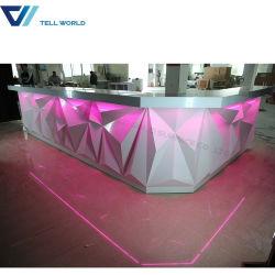 Nachtclub-Stab-Kostenzähler-Entwurfs-moderner Handelsstab-Aufenthaltsraum des Großverkauf-spätester LED und Verein-Möbel