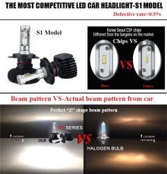 S1 Комплект Luces АВТО светодиодный индикатор H3, H8, H11, H4 Car LED Bombillo Luz светодиодные лампы H7 Car фары ближнего света 12V 24V. КОМПЛЕКТА ПРОТИВОТУМАННЫХ ФАР автомобильных ламп фар S1