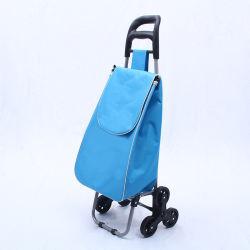 판촉용 접이식 휴대용 가방 유용한 야채 접이식 쇼핑 트롤리 백 휠 포함