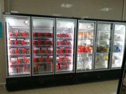 Commerciële drievoudige deur glazen deur rechtop Showcase vriezer supermarkt apparatuur