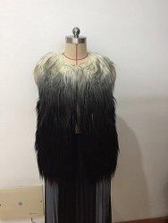 Faux Fur Vest (Lady, inverno quente, peles de longa, fábrica, moda, boa qualidade)