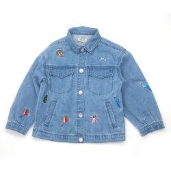 2020 giacca moda in denim blu d'epoca per Ragazza tempo libero Jean Polo collare Denim Jean
