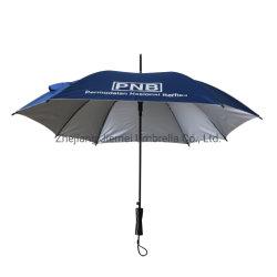 23인치 8 패널 자동 오픈 패션 스퀘어 스트레이트 스틱 UV 실버 코팅이 된 우산(SU030)