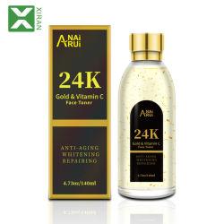 Melhor embranquecimento da pele e a face de endurecimento de vitamina C 24K Toner Pele clarear o toner