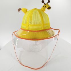 Crianças bebê chapéu protetor à prova de respingos de olho escudo facial anti cuspir balde chapéus de proteção crianças chapéu protetor
