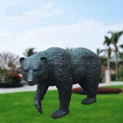 Artesanato de metal estátua de bronze fundido Animal Bear Escultura (GSBR-600)