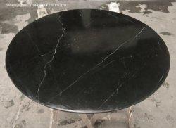 [هيغقوليتي] طبيعيّة حجارة [كونترتوب] [نرو] [مرقوينا] [دين تبل توب] أسود رخاميّ مستديرة لأنّ أثاث لازم تصميم