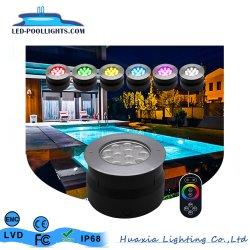 Acero inoxidable IP68 piscina empotrada LED de luz con dos años de garantía