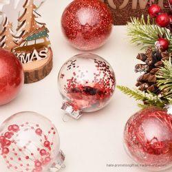 国境を越える熱い様式のクリスマスの装飾ペット透過球のクリスマスの球の一定のクリスマスツリーのペンダント