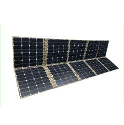 لوحة شمسية قابلة للطي أحادية البلورات الشمسية المحمولة ذات الطاقة الشمسية ومجموعة بطارية