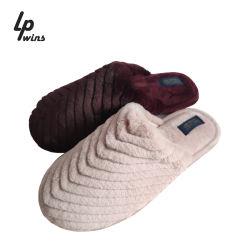 L'hiver Fashion femmes Accueil Pantoufle pantoufles Fausse Fourrure femme chaude sur méplats de patinage