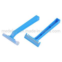 青いカラー単一の刃の使い捨て可能なかみそり